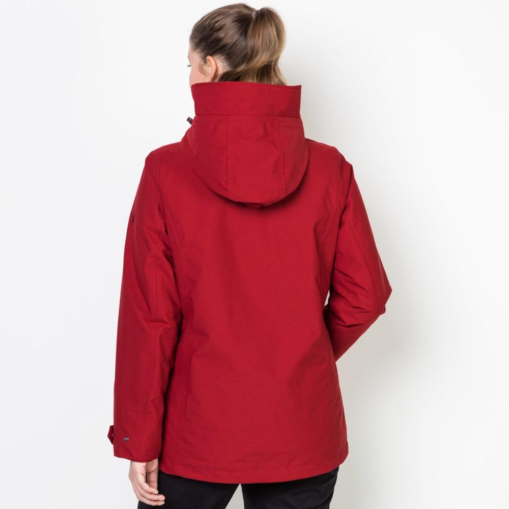 JACK WOLFSKIN Women's Devon Island 3-in-1 Jacket - 2210 INDIAN RED