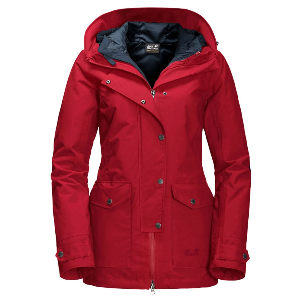 JACK WOLFSKIN Women's Devon Island 3-in-1 Jacket - 2210 INDIAN RED