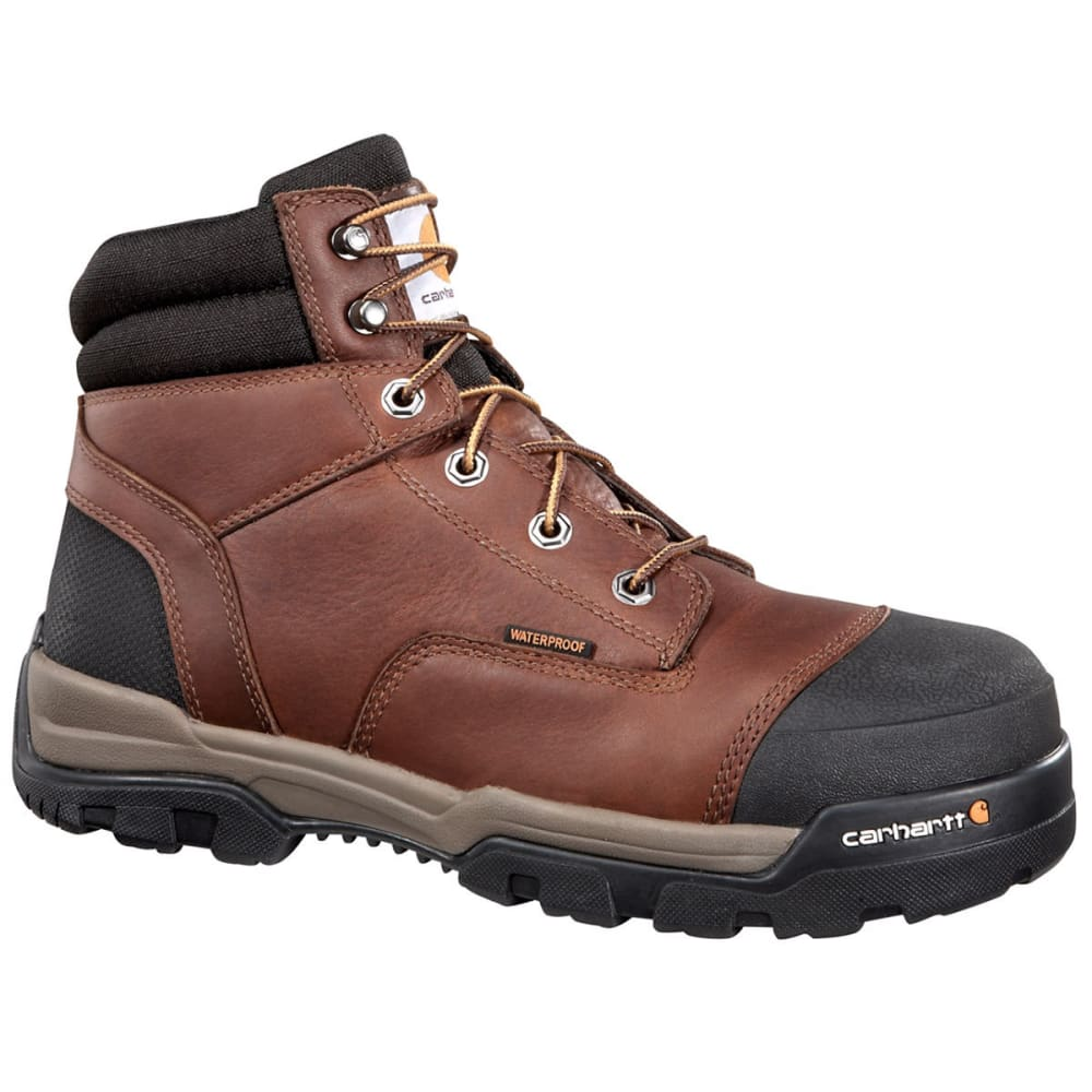 CARHARTT Men's 6-Inch Ground Force Work Boots - PEANUT OIL TAN LTHR