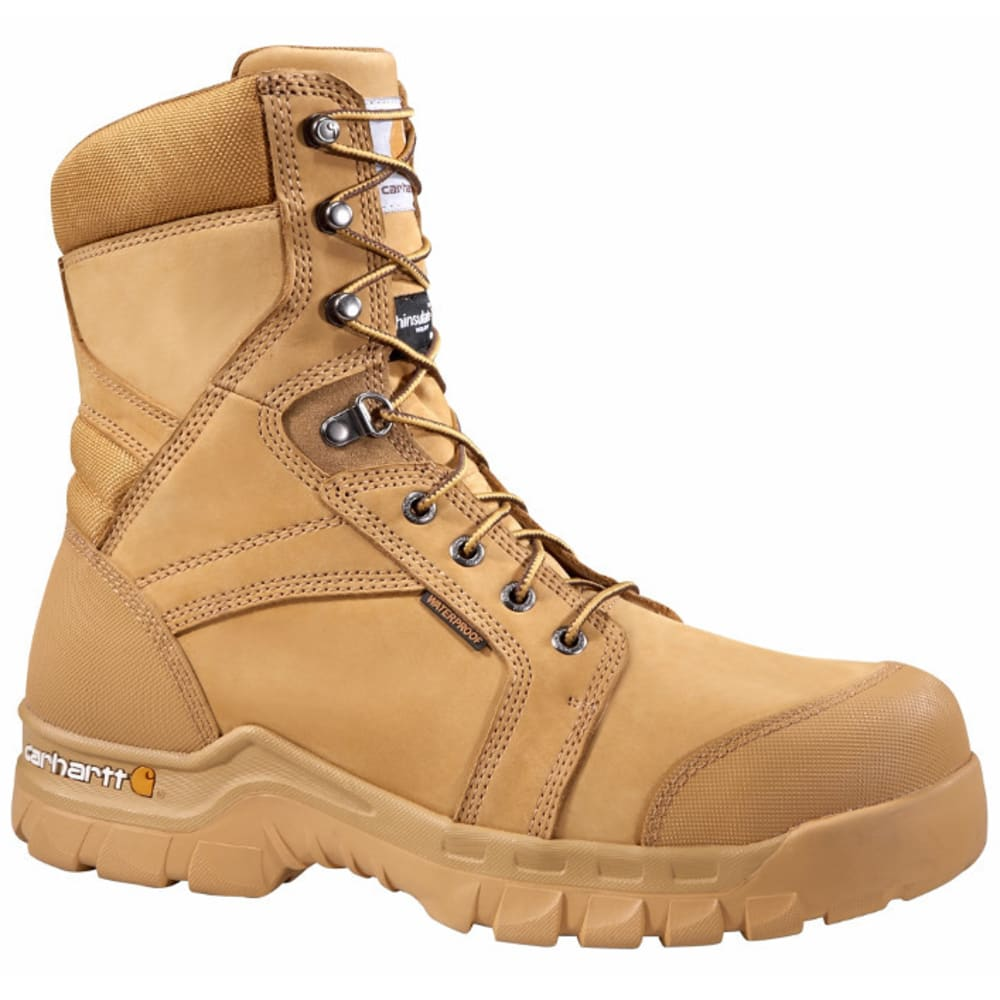 CARHARTT Men's 8-Inch Rugged Flex Insulated Work Boots - WHEAT NUBUCK