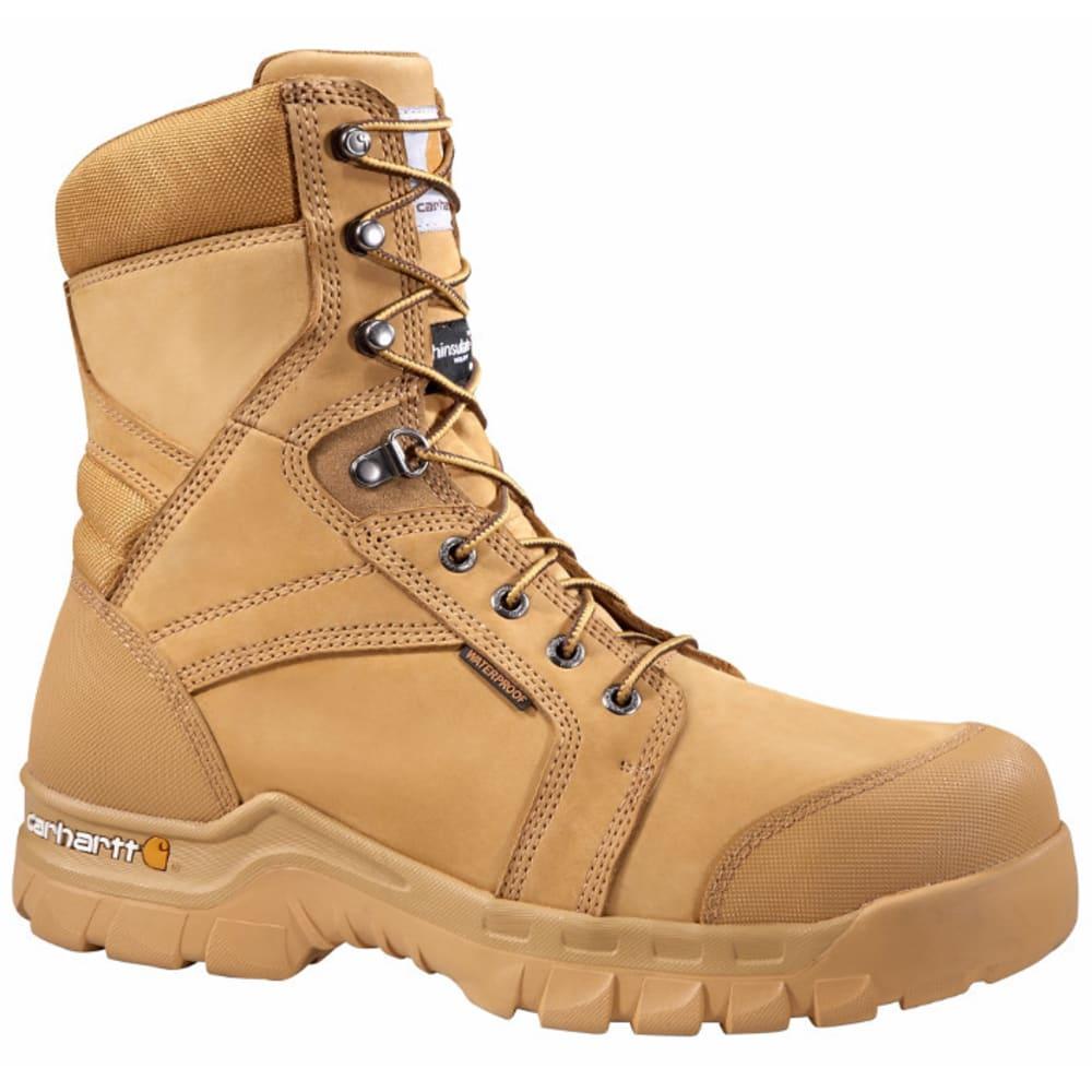 CARHARTT Men's 8-Inch Rugged Flex Insulated Work Boots - WHEAT NUBUCK