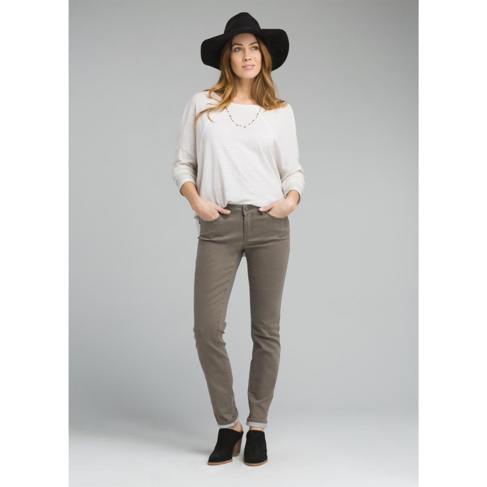 PRANA Women's Kayla Jean Mid-Rise Denim Jeans - DKMU DARK MUD