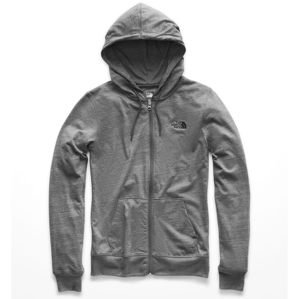 THE NORTH FACE Women's Lite Weight Full-Zip Hoodie - DYY TNF MED GR HEATH