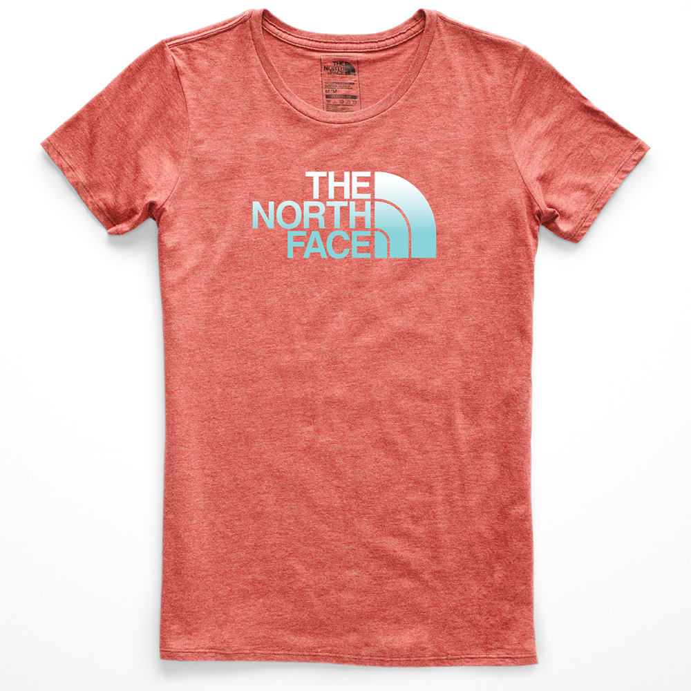 THE NORTH FACE Women's Half Dome Tri-Blend Crew Short-Sleeve Tee - VCG FADED ROSE HEATH