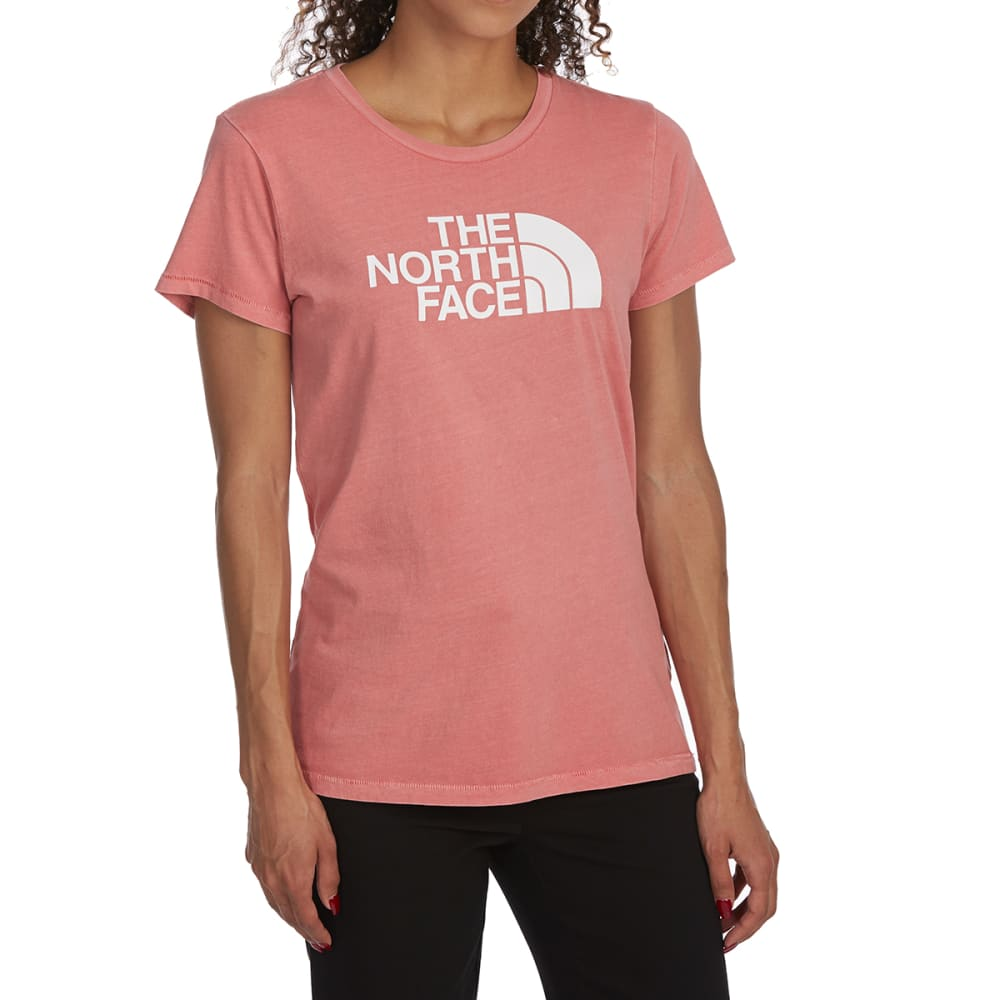 THE NORTH FACE Women's Half Dome Pigment Crew Short-Sleeve Tee - 5KF FADED ROSE WTE