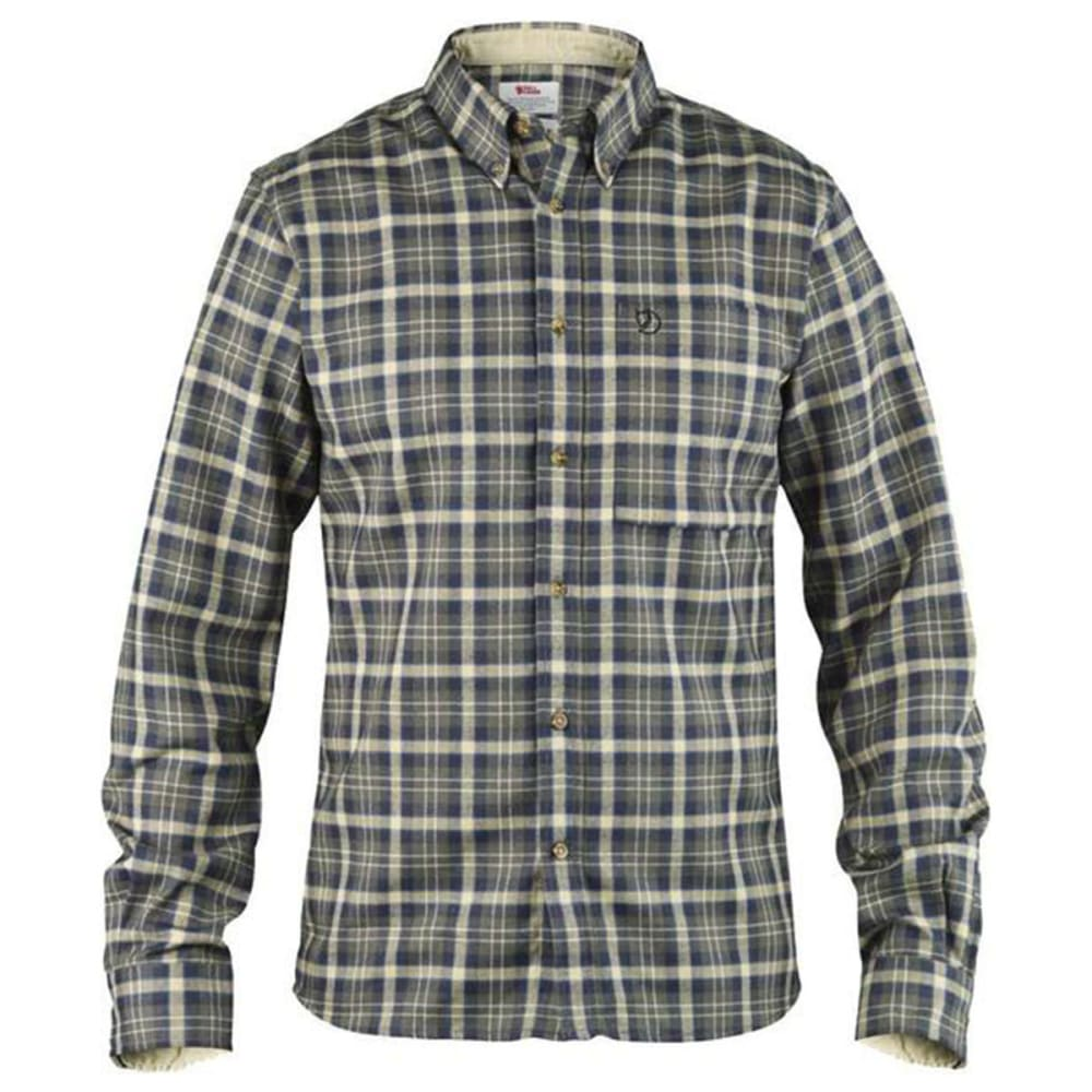 FJALLRAVEN Men's Stig Flannel Long-Sleeve Shirt - BLACK
