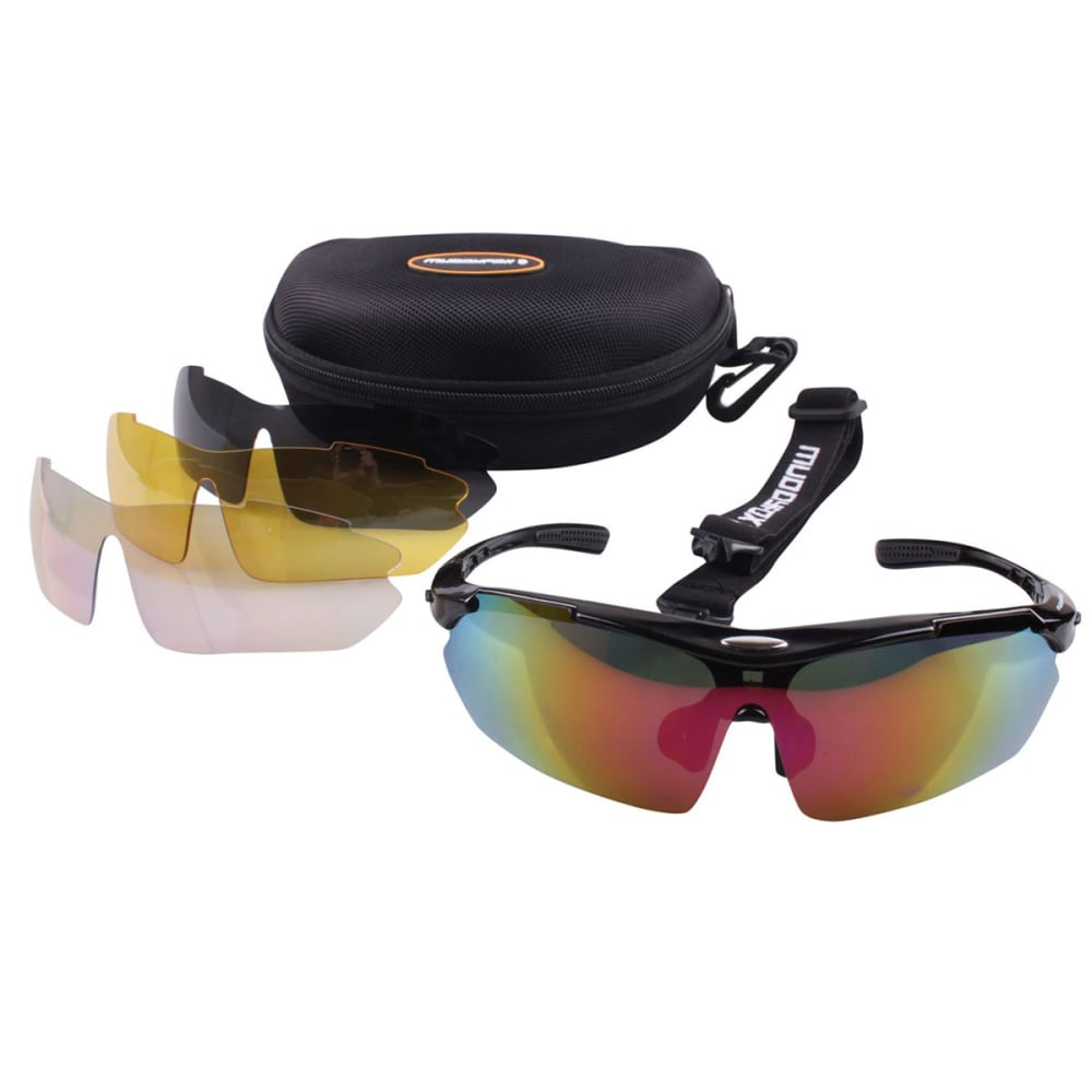 MUDDYFOX 200 Cycling Sunglasses - BLACK