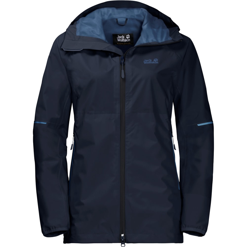 JACK WOLFSKIN Women's Sierra Trail Hardshell Jacket - 1910 MIDNIGHT BLUE
