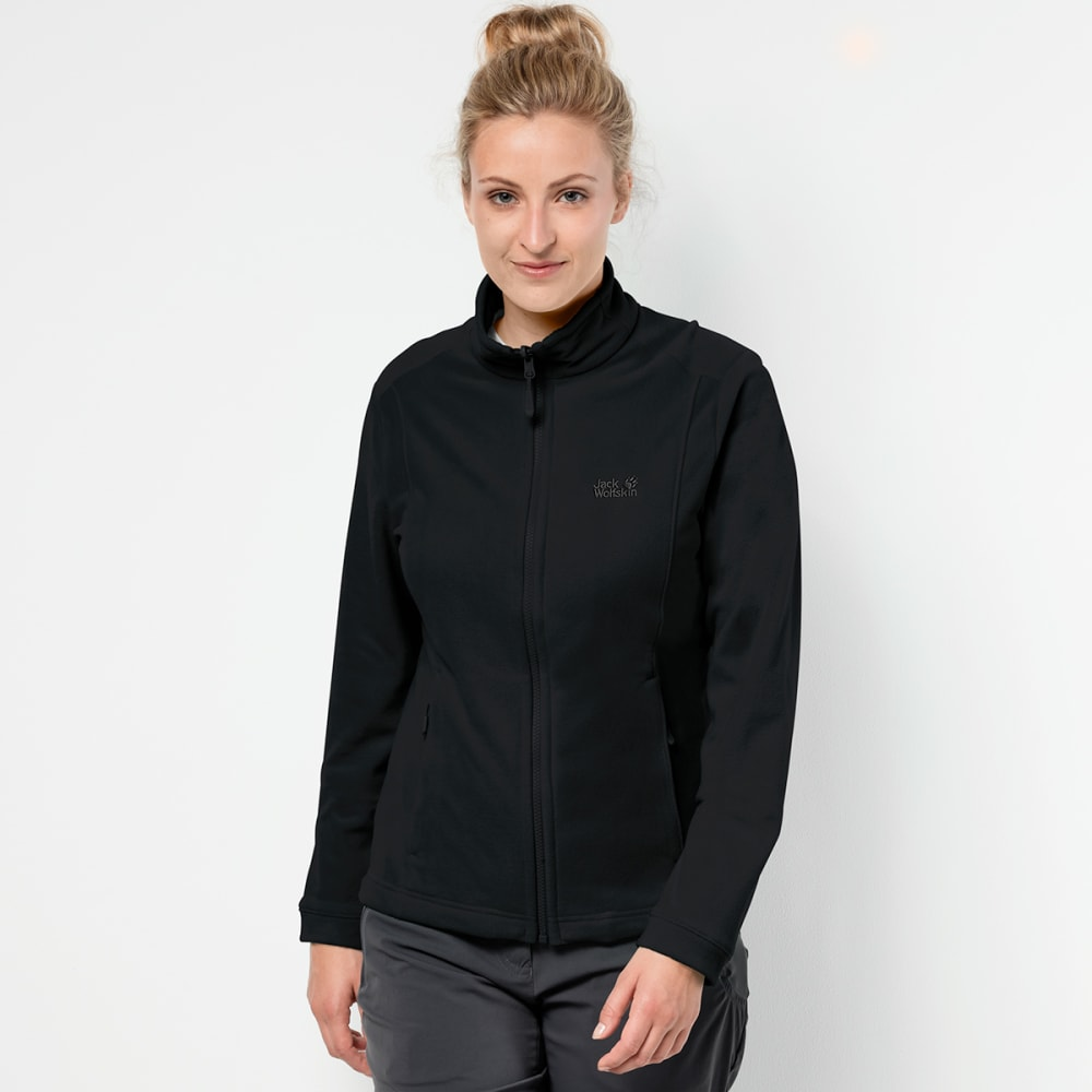 JACK WOLFSKIN Women's Kiruna Fleece Jacket - 6000 BLACK
