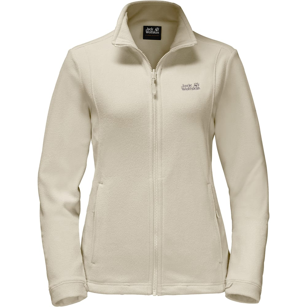 JACK WOLFSKIN Women's Kiruna Fleece Jacket - 5017 WHITE SAND