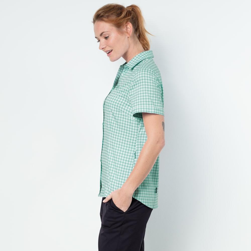 JACK WOLFSKIN Women's Kepler Short-Sleeve Shirt - 7734 PALE MINT CHECK