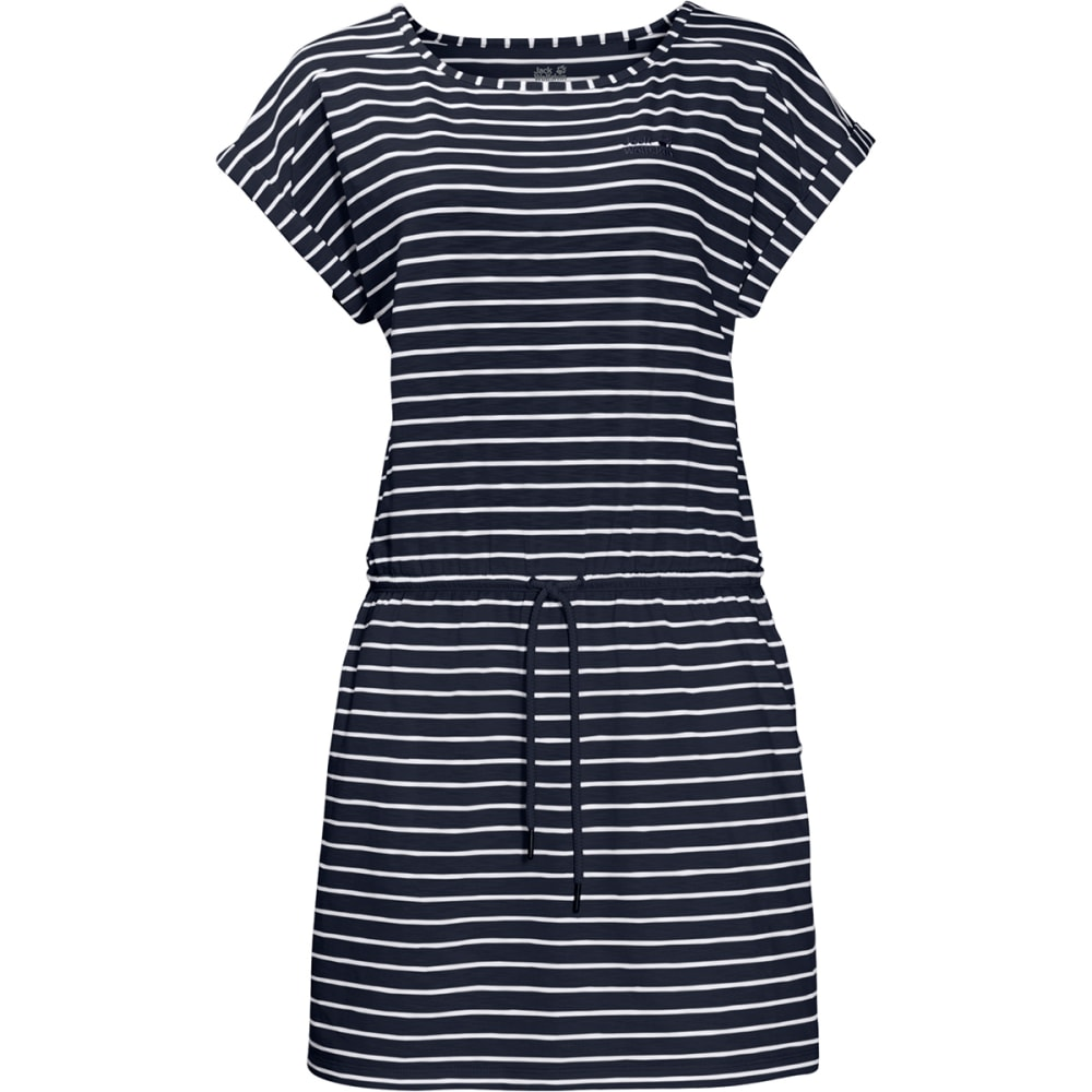 JACK WOLFSKIN Women's Travel Striped Dress - 7819 MID BLUE STRIPE