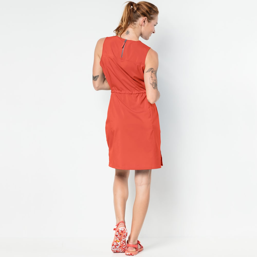 JACK WOLFSKIN Women's Tioga Road Dress - 2043 HOT CORAL