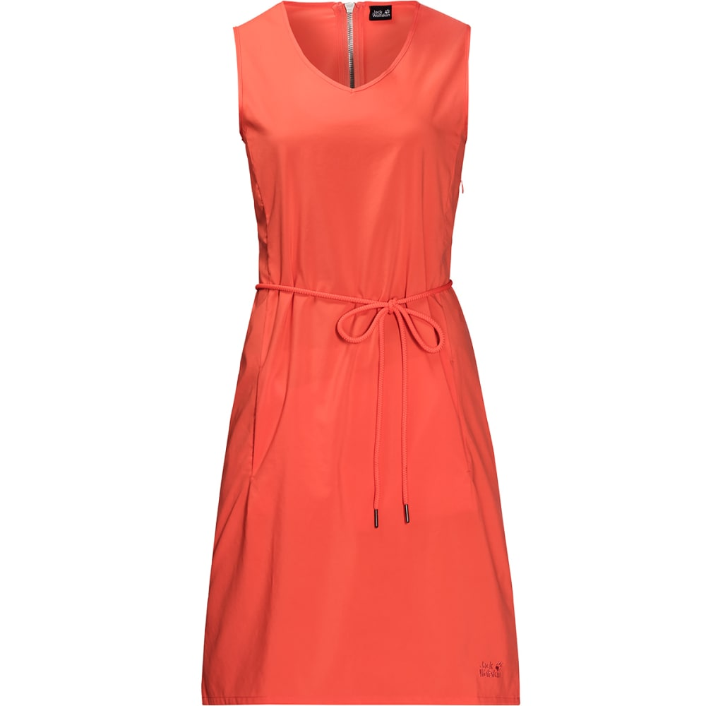 JACK WOLFSKIN Women's Tioga Road Dress - 2043 HOT CORAL
