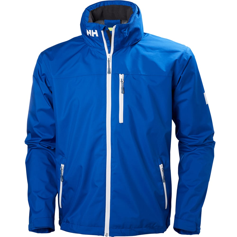 HELLY HANSEN Men's Crew Hooded Jacket - 563 OLYMPIAN BLUE
