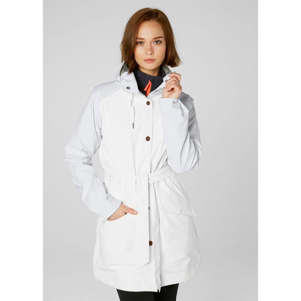 HELLY HANSEN Women's Kirkwall Rain Coat - 001 WHITE