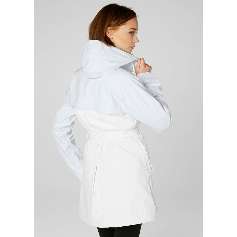 HELLY HANSEN Women's Kirkwall Rain Coat - 001 WHITE