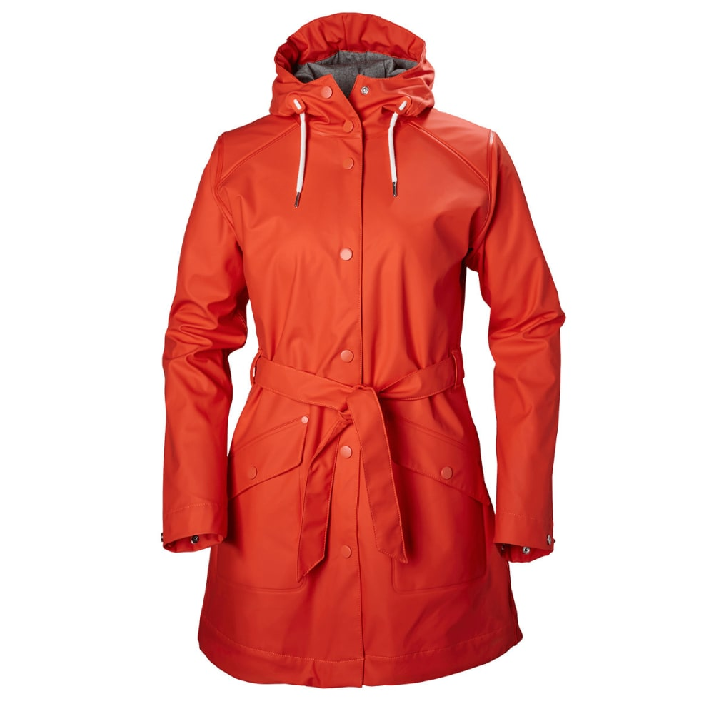 HELLY HANSEN Women's Kirkwall Rain Coat - 601 GRENADINE