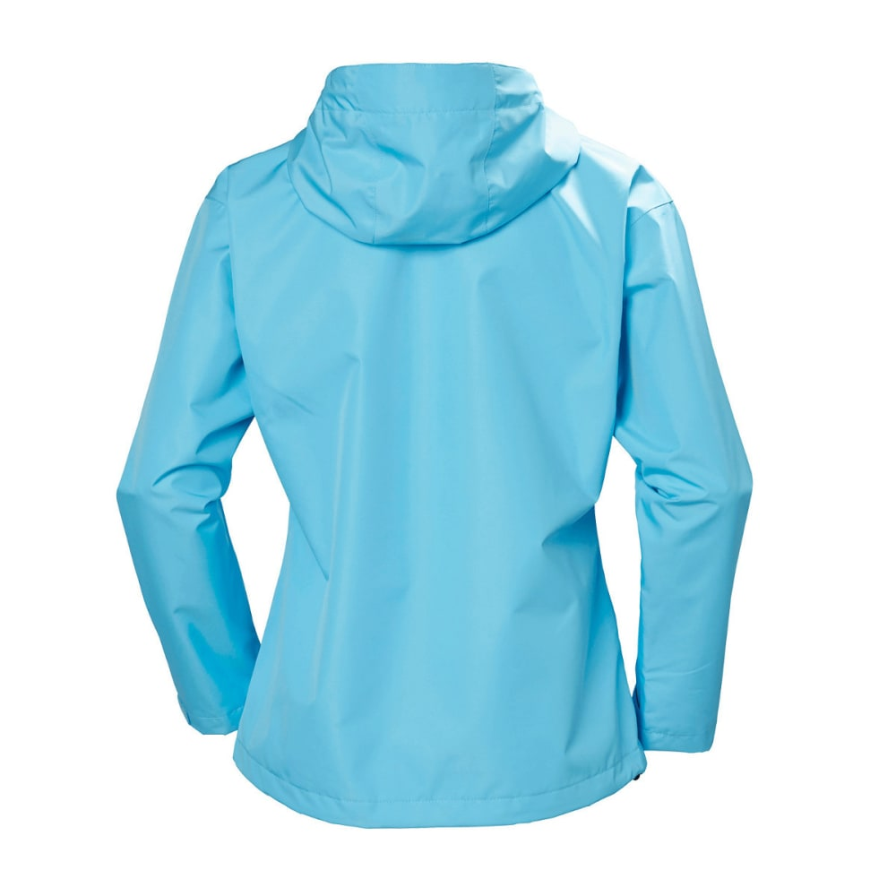 HELLY HANSEN Women's Seven J Rain Jacket - 518 AQAUA BLUE
