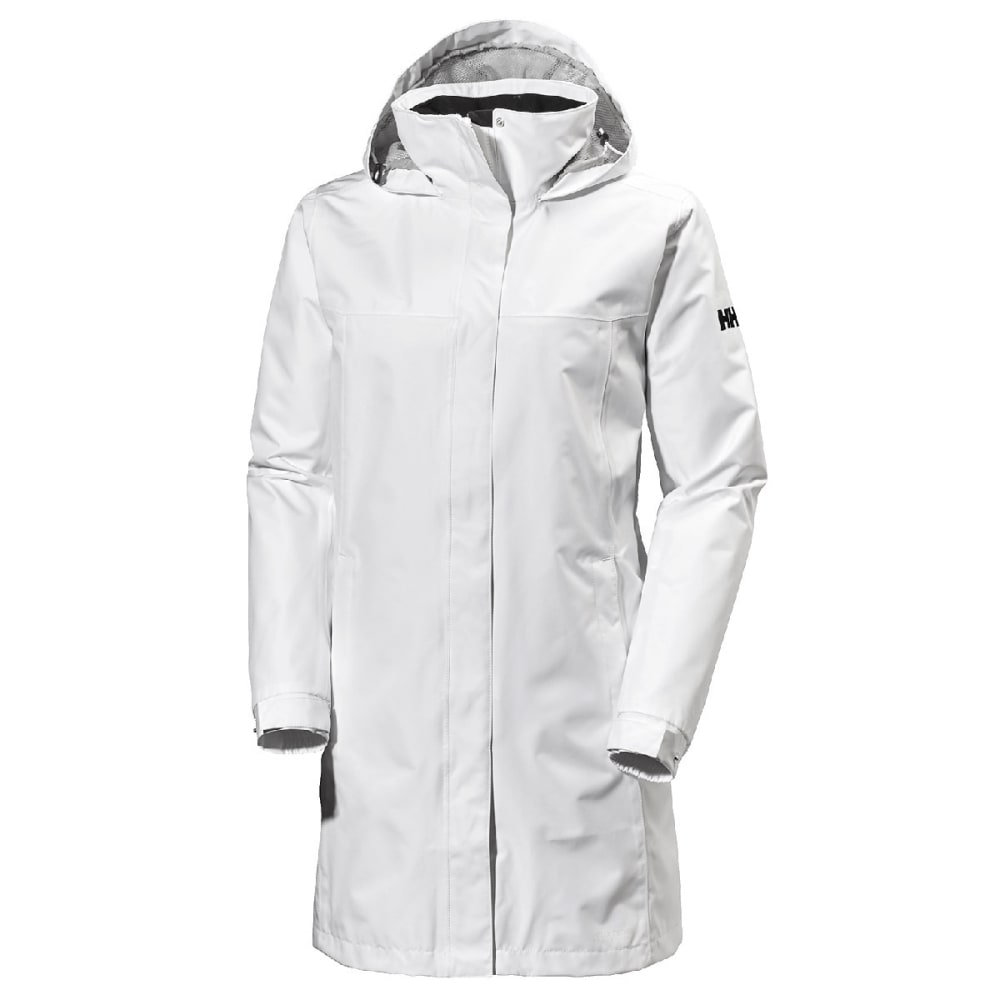 HELLY HANSEN Women's Aden Long Rain Jacket - 001 WHITE