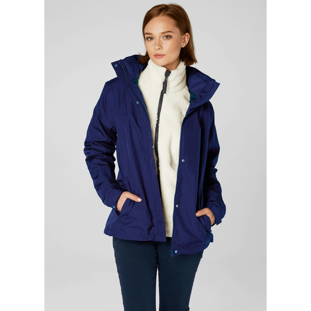 HELLY HANSEN Women's Aden Rain Jacket - EVENING BLUE