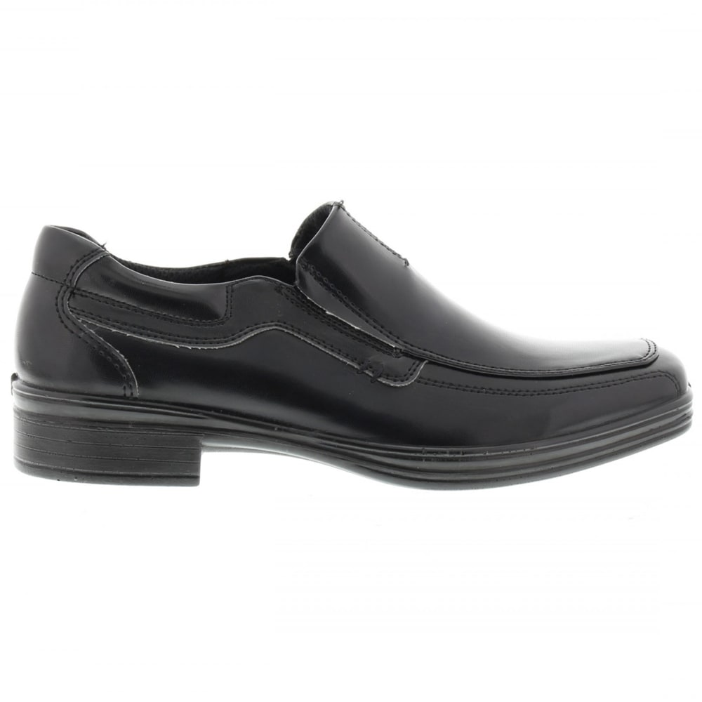 DEER STAGS Big Boys' Wise Slip-On Dress Shoes - BLACK