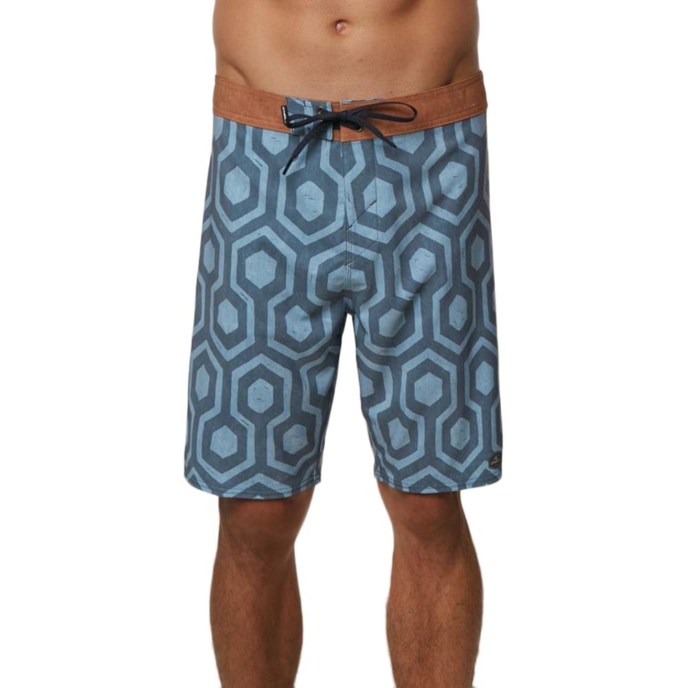 O'NEILL Guys' Hyperfreak Wrenched Boardshorts - DBL-DEEP BLUE