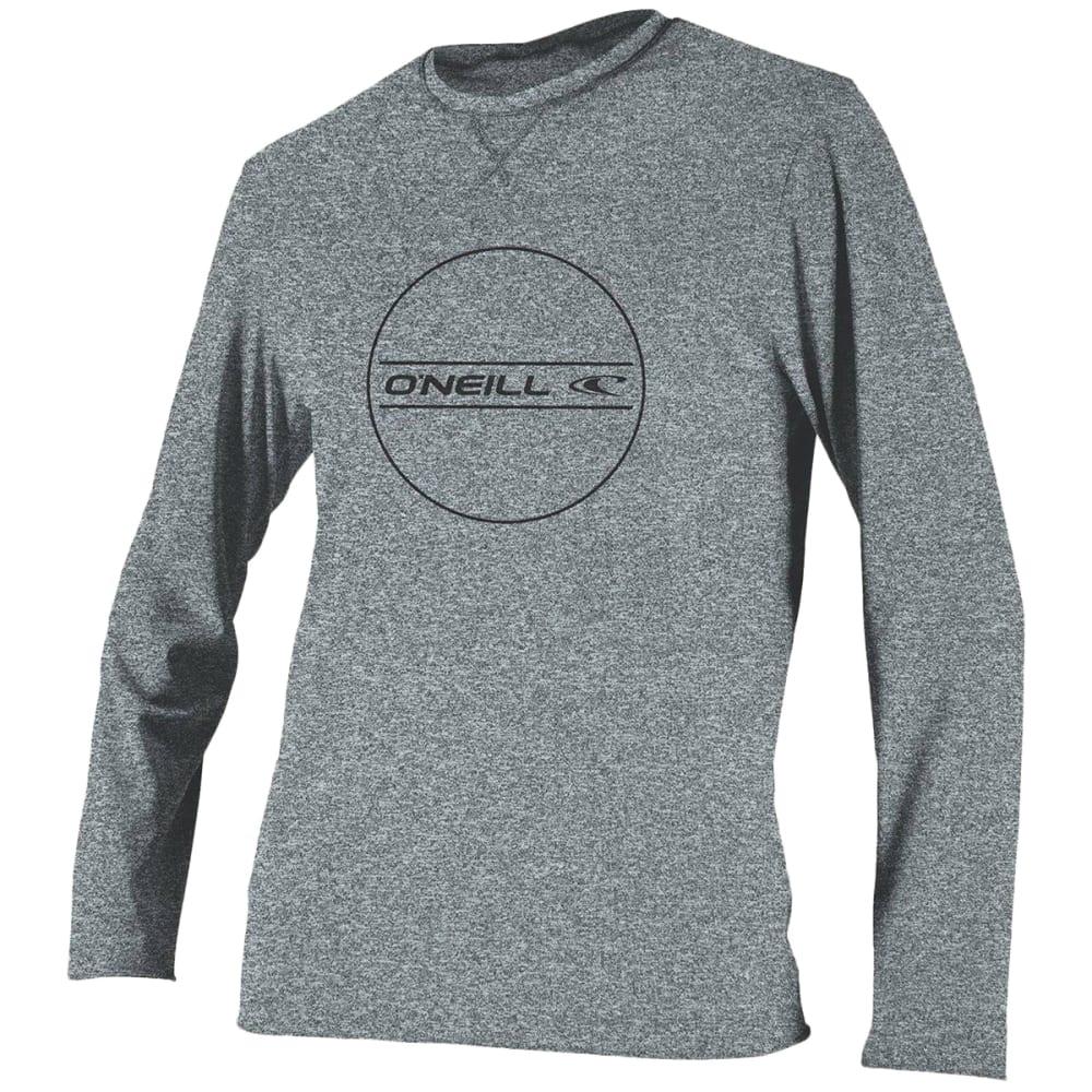 O'NEILL Boys' Hybrid Long-Sleeve Sun Shirt - HEATHER GREY