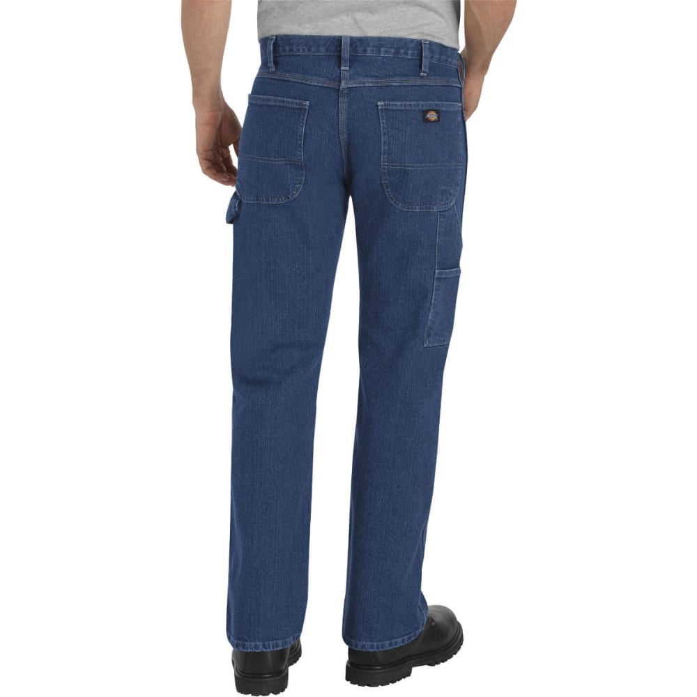 DICKIES Men's FLEX Relaxed Fit Straight Leg Carpenter Denim Jean - FLX RNSD INDIGO-FRI