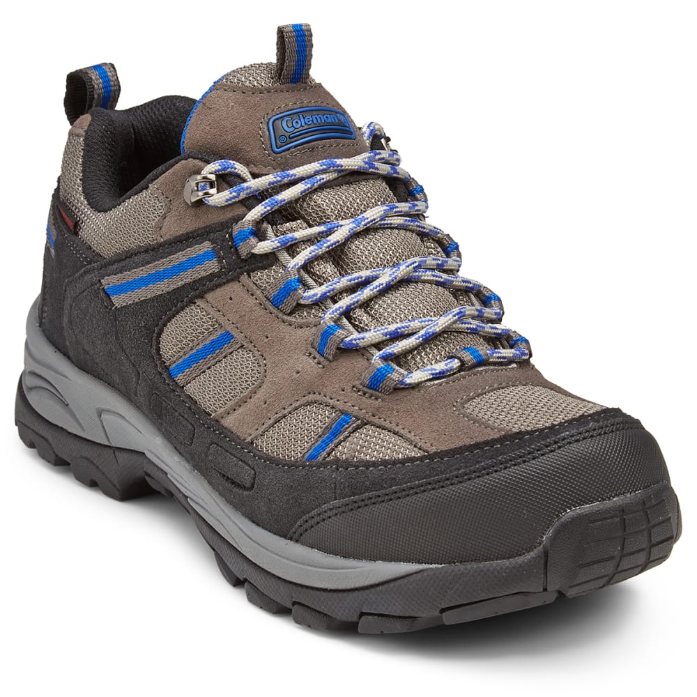 COLEMAN Men's Weston Low Waterproof Hiking Shoes - GREY/BLUE