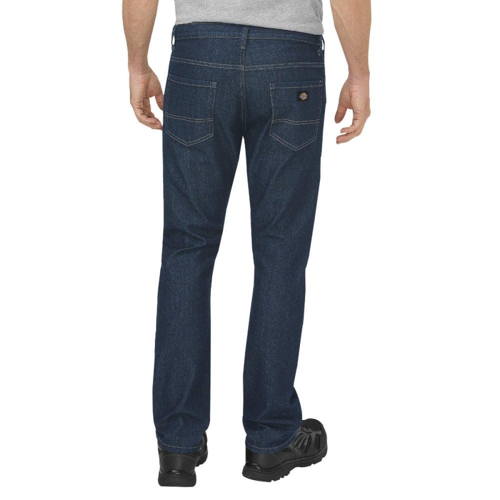 DICKIES Men's FLEX Regular Fit Straight Leg 5-Pocket Tough Max Denim Jean - HERTIAGE KHAKI-THK