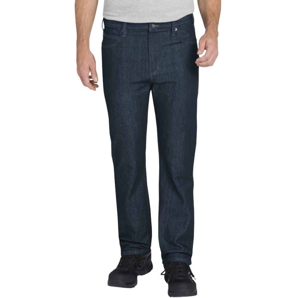 DICKIES Men's FLEX Regular Fit Straight Leg 5-Pocket Tough Max Denim Jean - HERTIAGE KHAKI-THK
