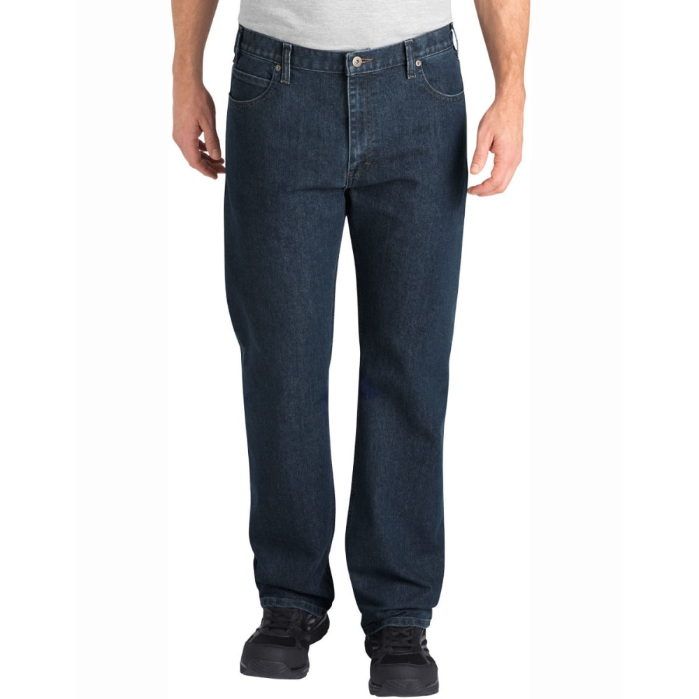 DICKIES Men's FLEX Relaxed Fit Straight Leg 5-Pocket Tough Max Denim Jean - HERTIAGE KHAKI-THK