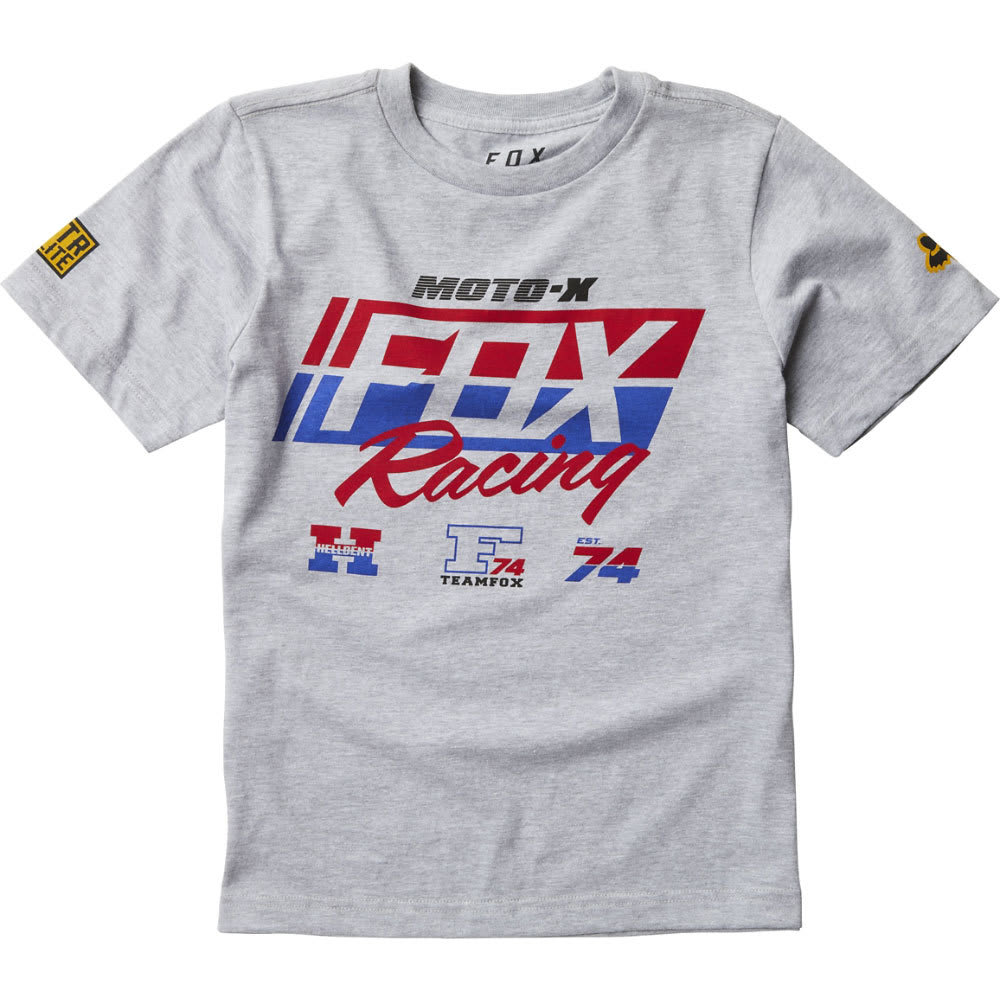 FOX Boys' First Placed Tee - 416-HEATHER GREY