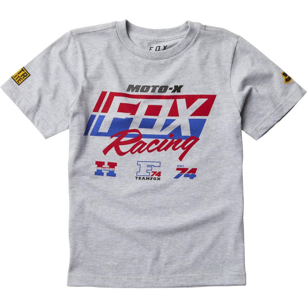 FOX Boys' First Placed Tee - 416-HEATHER GREY