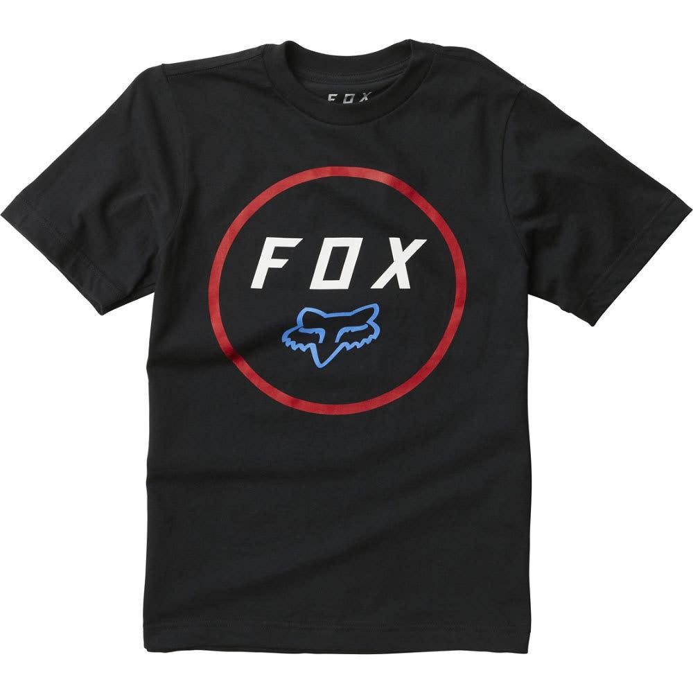 FOX Boys' Settled Short-Sleeve Tee - 017-BLACK/RED