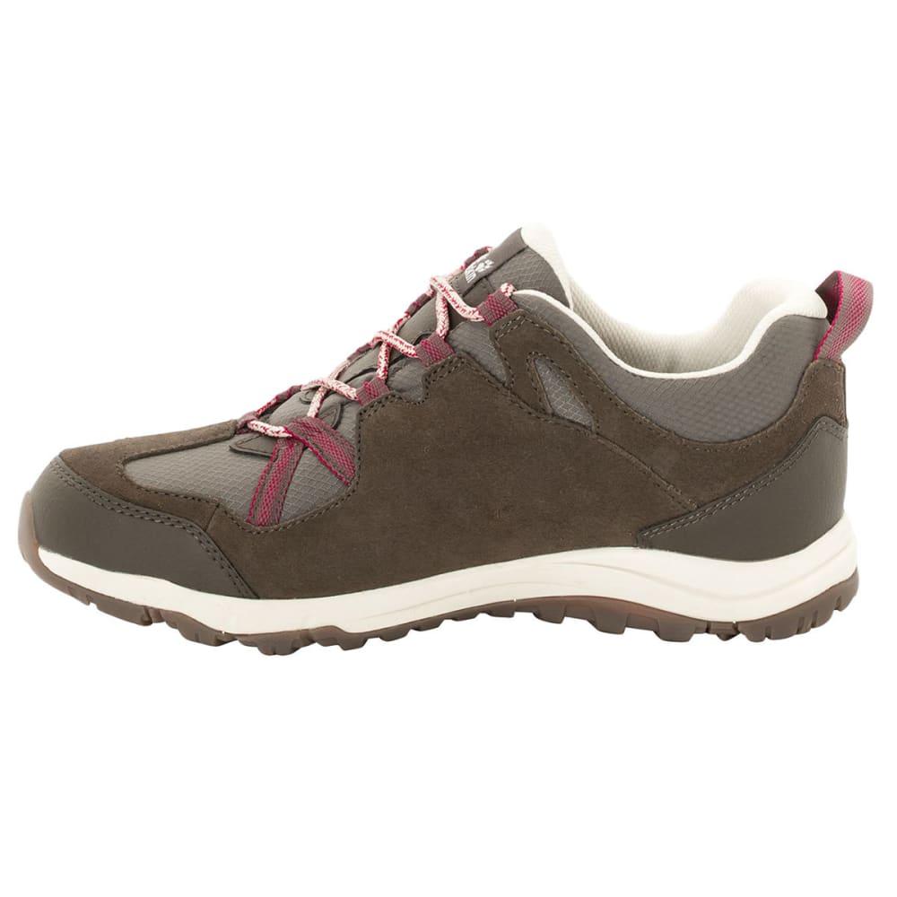 JACK WOLFSKIN Women's Rocksand Texapore Low Waterproof Hiking Shoes, Dark Ruby - DARK RUBY