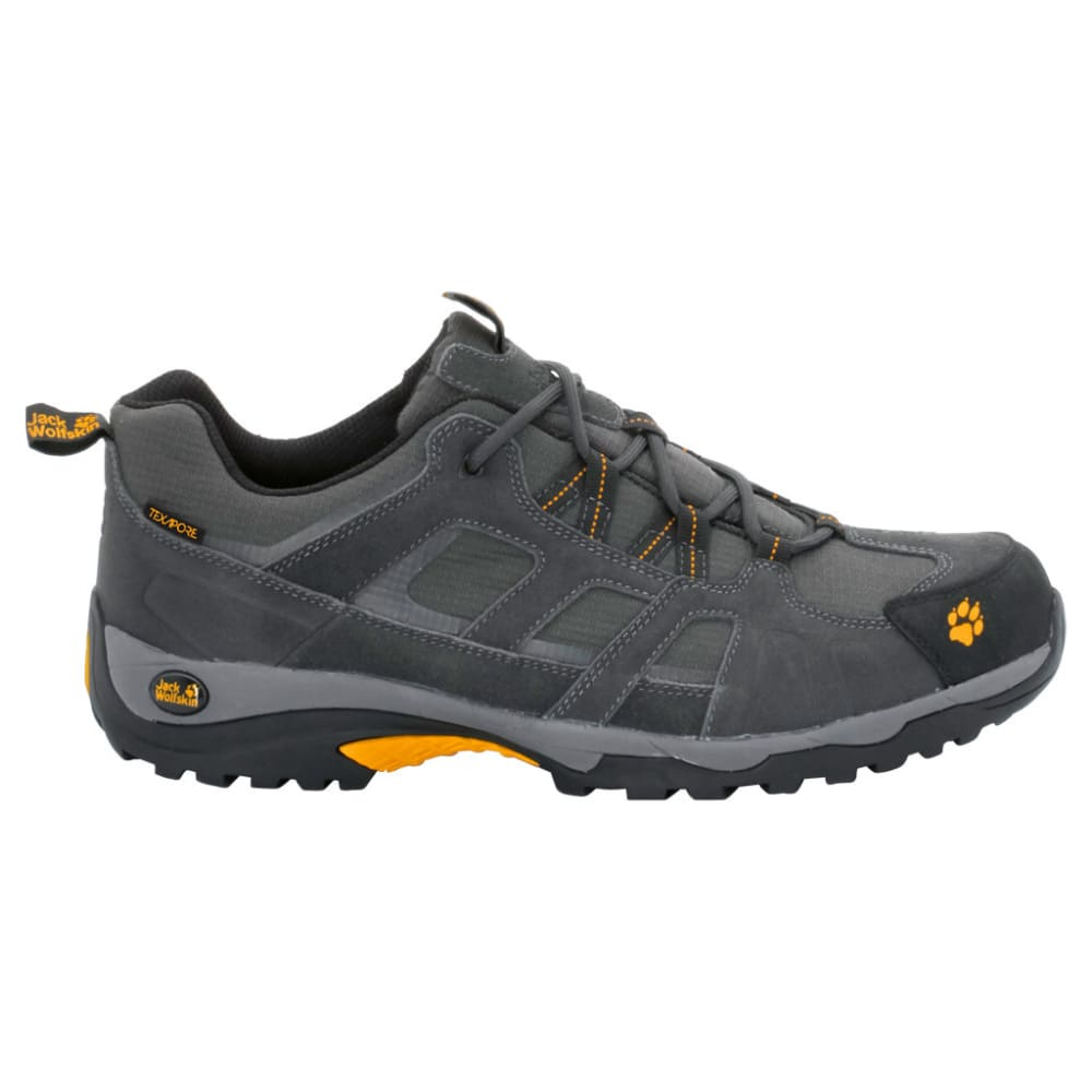 JACK WOLFSKIN Men's Vojo Low Texapore Hiking Shoes, Burly Yellow - BURLY YELLOW