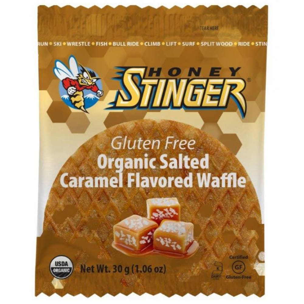 HONEY STINGER Gluten Free Salted Caramel Organic Waffle - NO COLOR