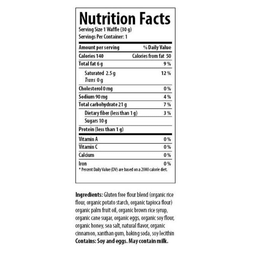 HONEY STINGER Gluten Free Cinnamon Organic Waffle - NO COLOR