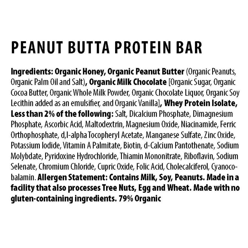 HONEY STINGER Peanut Butta 10g Protein Bar - NO COLOR