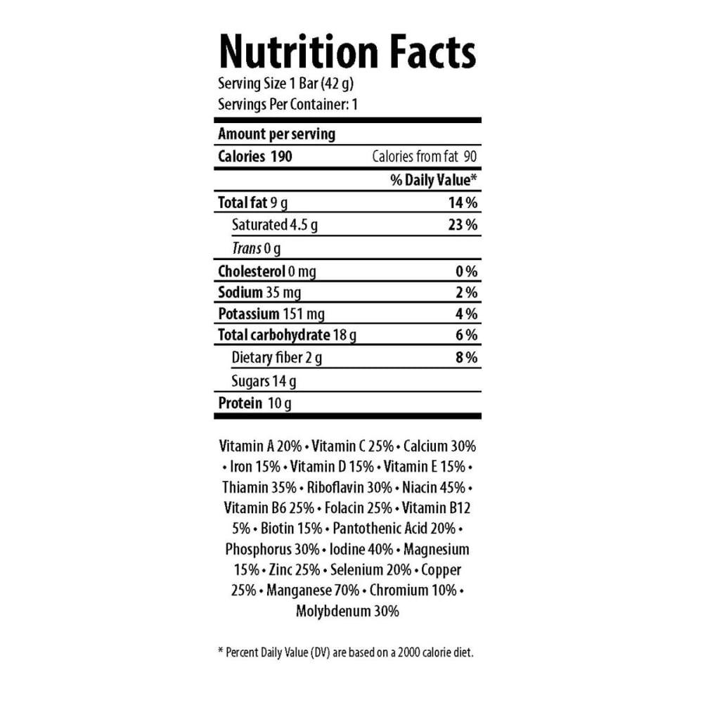 HONEY STINGER Dark Chocolate Coconut Almond 10g Protein Bar