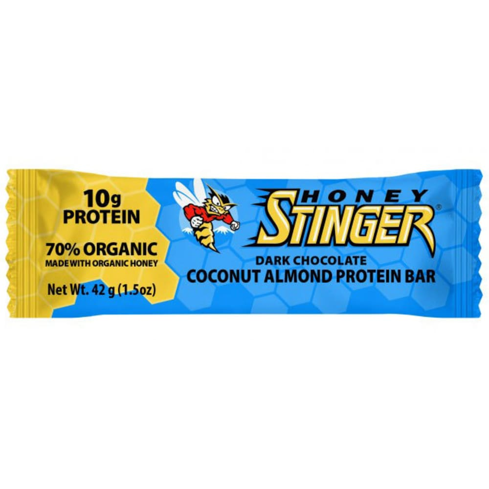 HONEY STINGER Dark Chocolate Coconut Almond 10g Protein Bar - NO COLOR