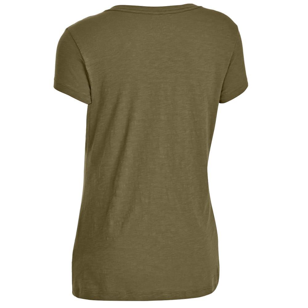 EMS Women's Organic Slub V-Neck Short-Sleeve Tee - MARTINI OLIVE