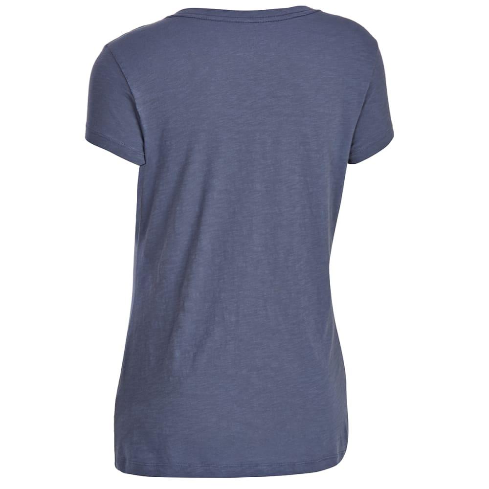 EMS Women's Organic Slub V-Neck Short-Sleeve Tee - VINTAGE INDIGO