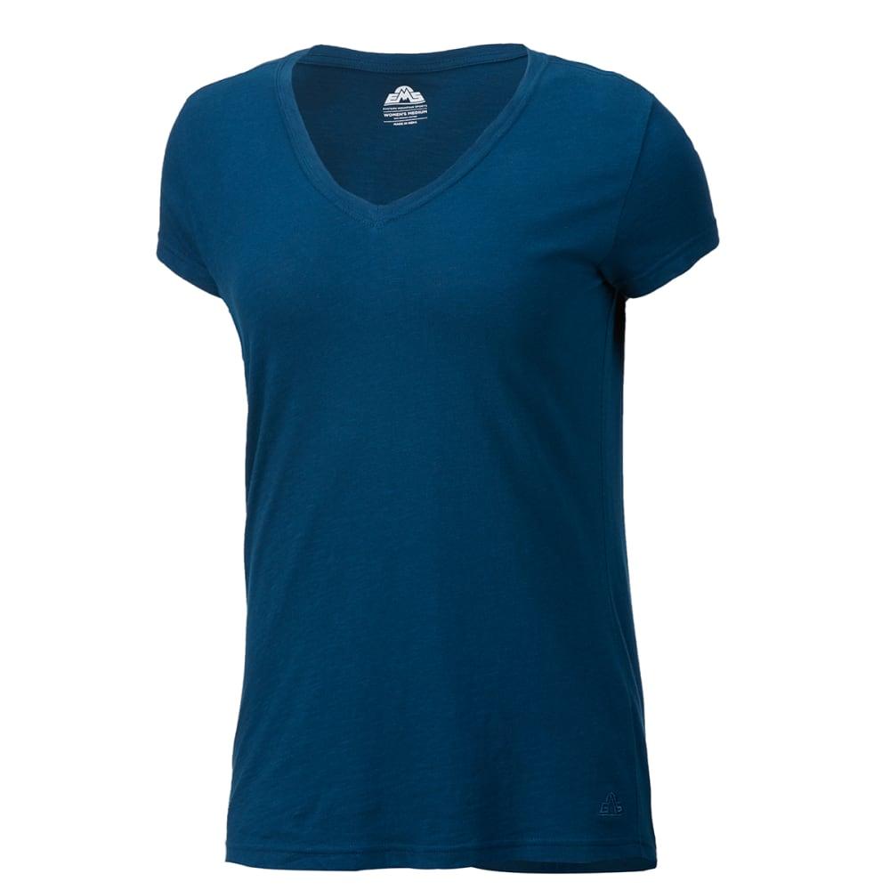 EMS Women's Organic Slub V-Neck Short-Sleeve Tee - BLUE OPAL