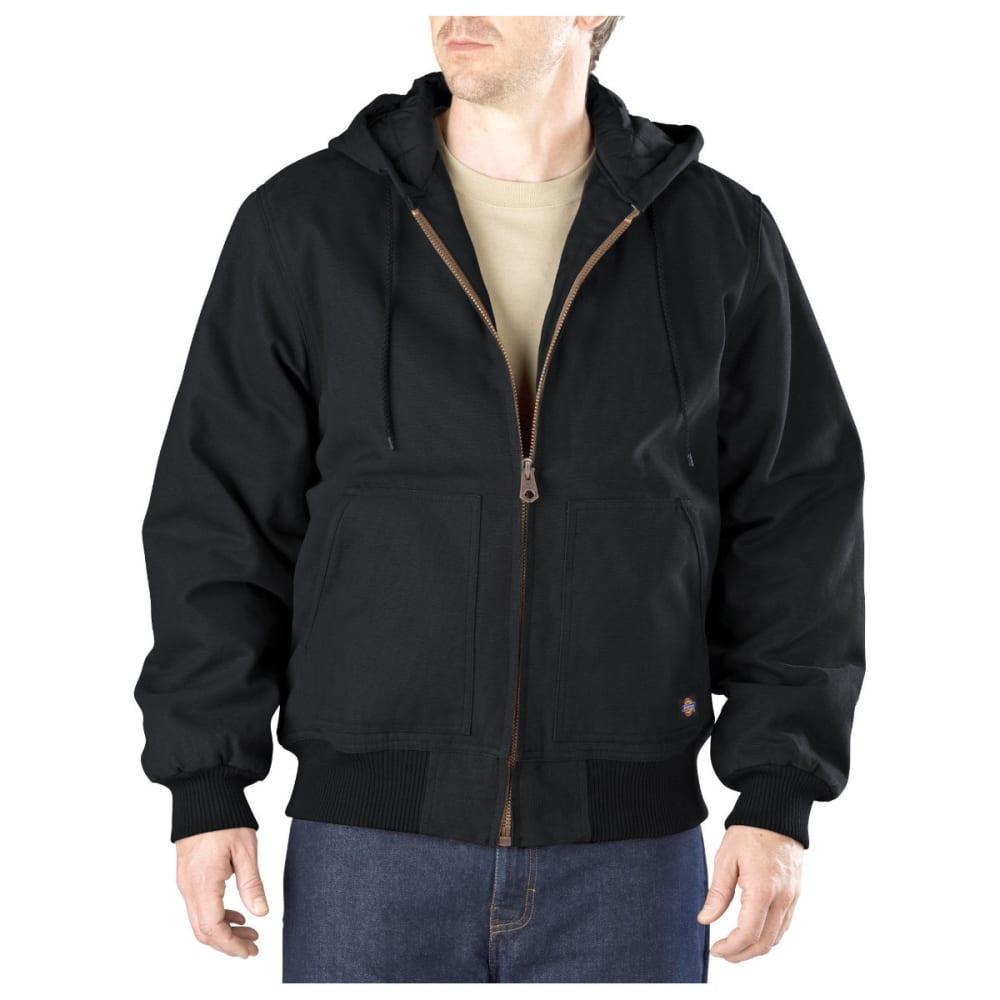 DICKIES Men's Sanded Duck Hooded Jacket, Extended Sizes - BLACK-BK