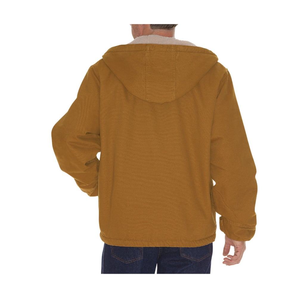 DICKIES Men's Sanded Duck Sherpa Lined Hooded Jacket, Extended Sizes - RNSD BROWN DUCK-RBD