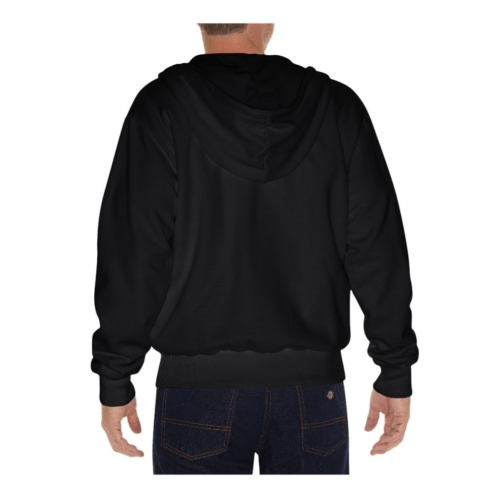DICKIES Men's Thermal Lined Fleece Hoodie, Extended Sizes - BLACK-BK