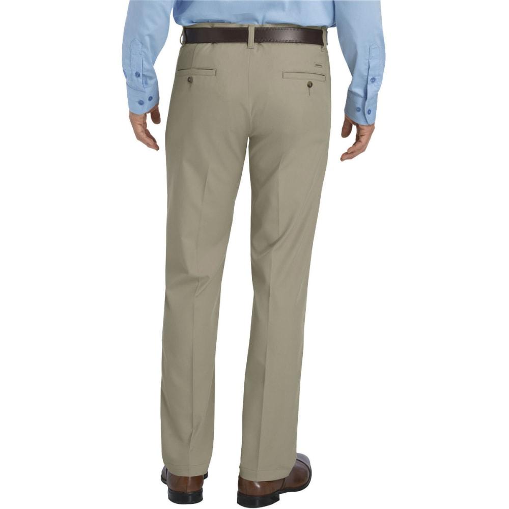 DICKIES Men's Dickies KHAKI Flat Front Microfiber Pant - DESERT SAND-DS